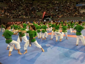 La escuela municipal de Alovera de kárate participa en el torneo internacional Villa de Madrid